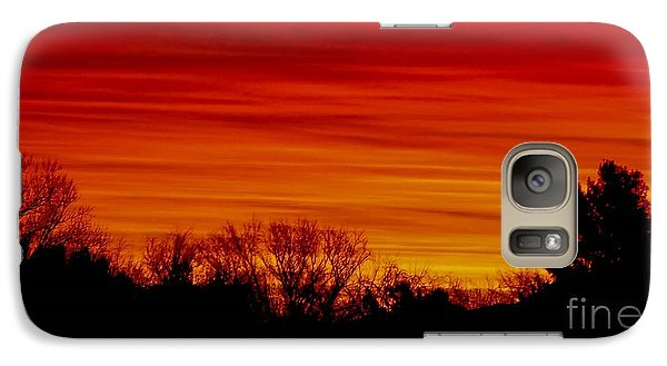 Galaxy Case featuring the photograph Sunrise Y-town by Angela J Wright