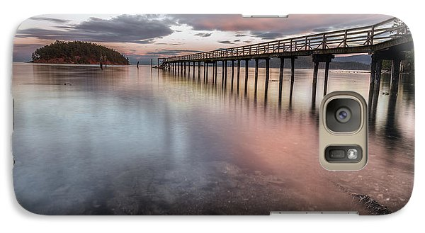 Galaxy Case featuring the photograph Sunset - Mayne Island by Jacqui Boonstra