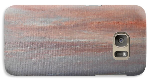 Galaxy Case featuring the painting Sunset 2 by Jane  See