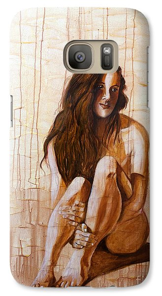 Galaxy Case featuring the painting Sunset 2of4 by Denise Deiloh