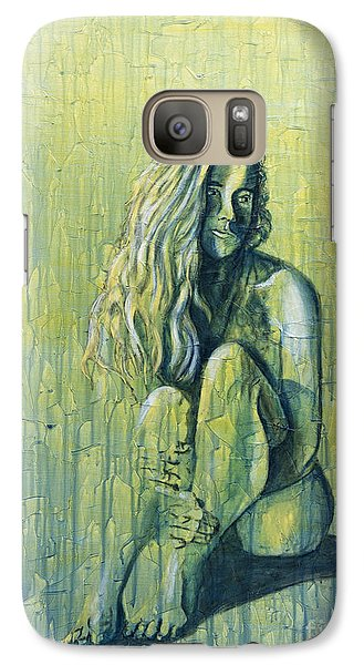 Galaxy Case featuring the painting Sunset 4of4 by Denise Deiloh