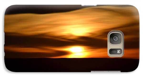Galaxy Case featuring the photograph Sunset Abstract I by Nadalyn Larsen