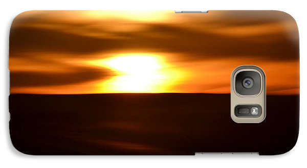 Galaxy Case featuring the photograph Sunset Abstract II by Nadalyn Larsen