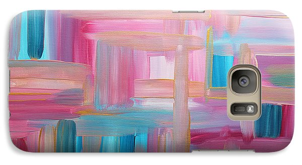 Galaxy Case featuring the painting Sunset Abstract by Stacey Zimmerman