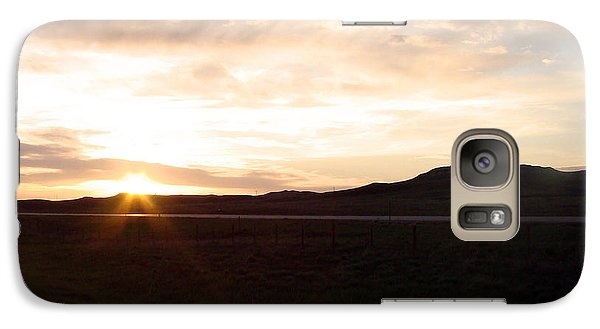 Galaxy Case featuring the photograph Sunset Across I 90 by Cathy Anderson