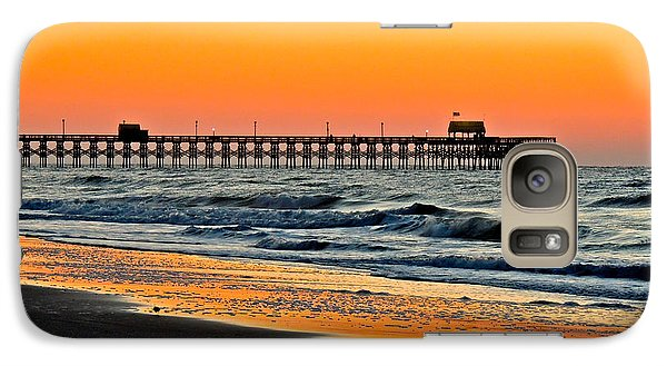 Galaxy Case featuring the photograph Sunset Apache Pier by Eve Spring