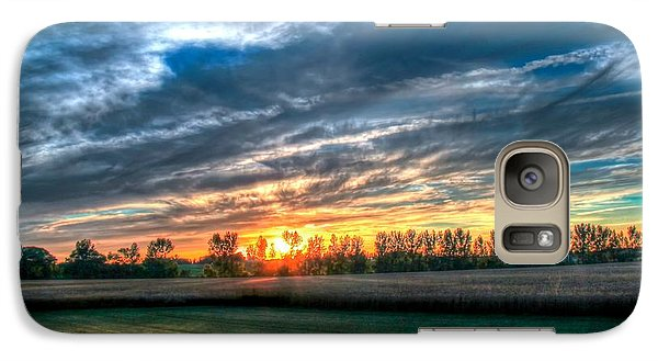 Galaxy Case featuring the photograph Sunset At Airport by Michaela Preston
