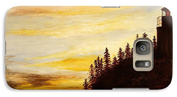 Galaxy Case featuring the painting Sunset At Bass Harbor by Lee Piper