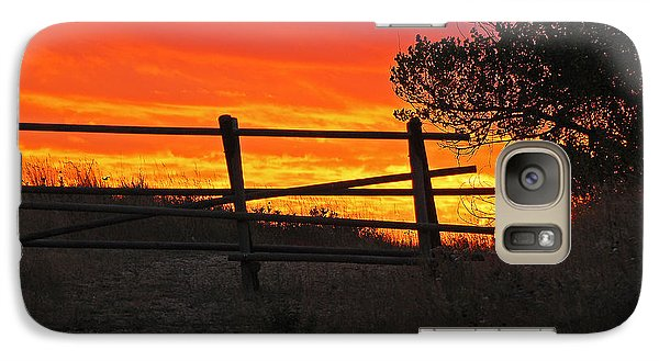 Galaxy Case featuring the photograph Sunset At Bear Butte by Mary Carol Story