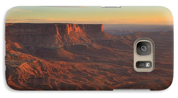 Galaxy Case featuring the photograph Sunset At Canyonlands by Alan Vance Ley