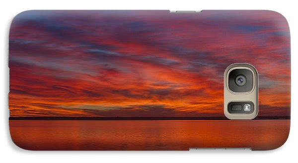 Galaxy Case featuring the photograph Sunset At Cheyenne Bottoms 1 by Rob Graham