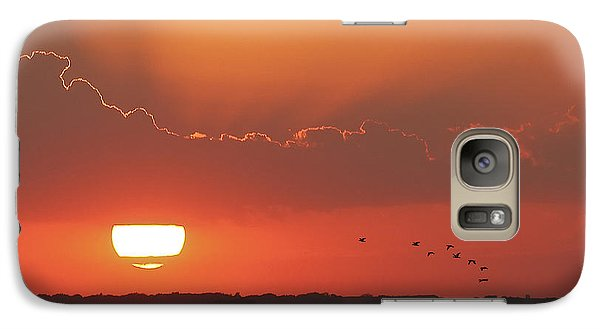 Galaxy Case featuring the photograph Sunset At Cheyenne Bottoms by Rob Graham