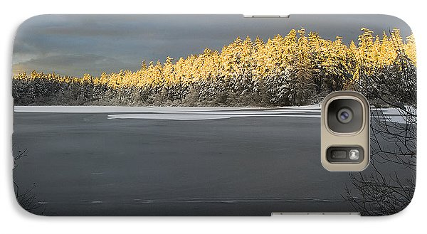 Galaxy Case featuring the photograph Sunset At Cranberry Lake Anacortes by Yulia Kazansky