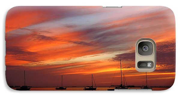 Galaxy Case featuring the photograph Sunset At Crystal Beach by Daniel Woodrum