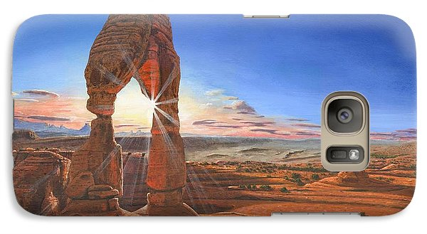 Desert Galaxy S7 Case - Sunset At Delicate Arch Utah by Richard Harpum