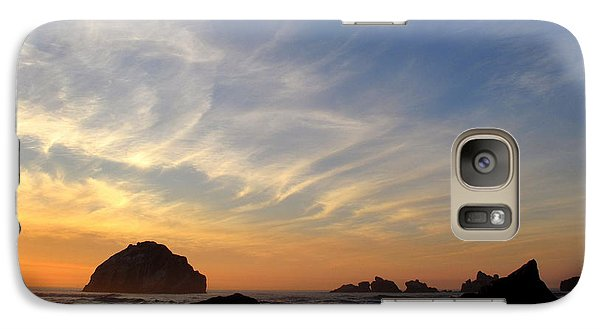 Galaxy Case featuring the photograph Sunset At Face Rock by Suzy Piatt