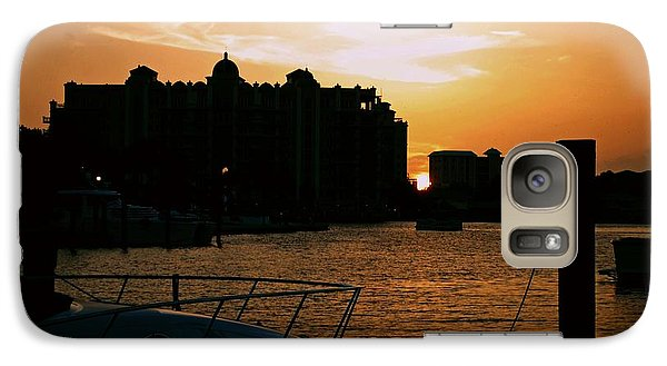 Galaxy Case featuring the photograph Sunset At Golden Point by Gary Wonning