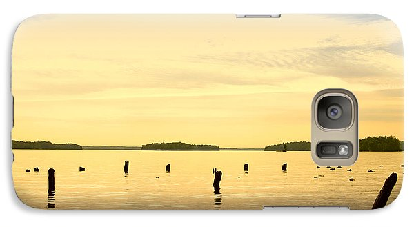 Galaxy Case featuring the photograph Sunset At Lake Muskoka by Les Palenik