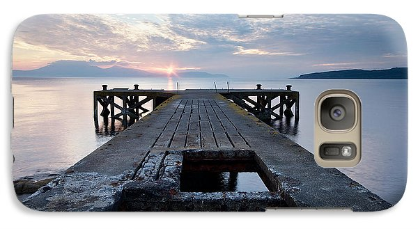 Galaxy Case featuring the photograph Sunset At Portencross by Stephen Taylor