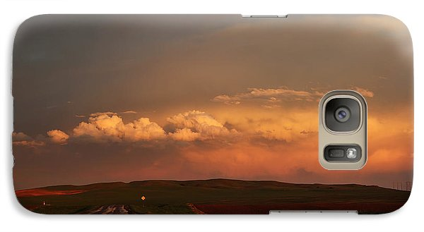 Galaxy Case featuring the photograph Sunset At Rockglen by Ryan Crouse