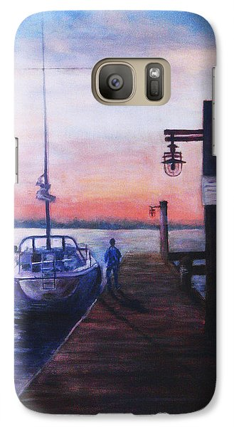 Galaxy Case featuring the painting Sunset At Rocky Point by Sher Nasser