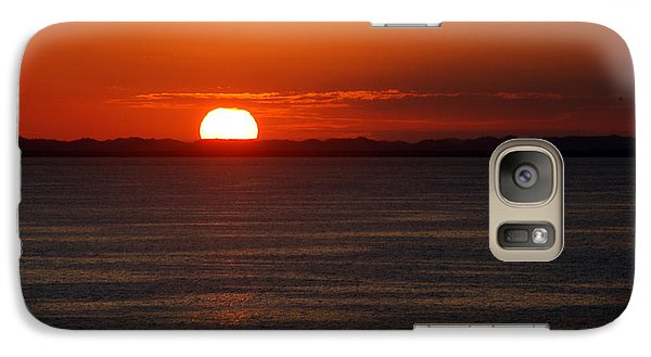 Galaxy Case featuring the photograph Sunset At Sea by Allen Carroll
