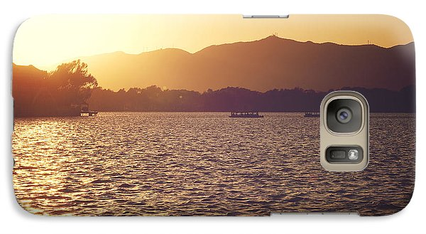 Galaxy Case featuring the photograph Sunset At Summer Palace by Yew Kwang