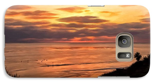 Galaxy Case featuring the painting Sunset At Swami's Encinitas by Michael Pickett