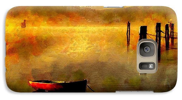 Galaxy Case featuring the painting Sunset At The Bay by Wayne Pascall