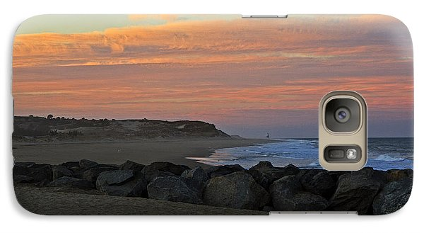Galaxy Case featuring the photograph Sunset At The Beach by Robert Pilkington