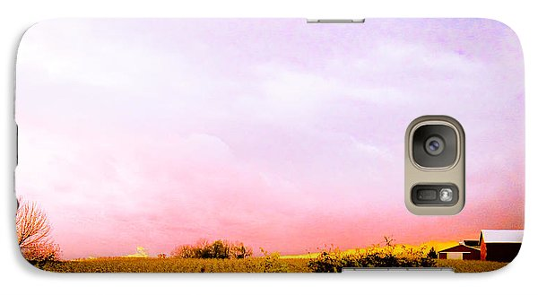 Galaxy Case featuring the photograph Sunset At The Farm by Sara Frank