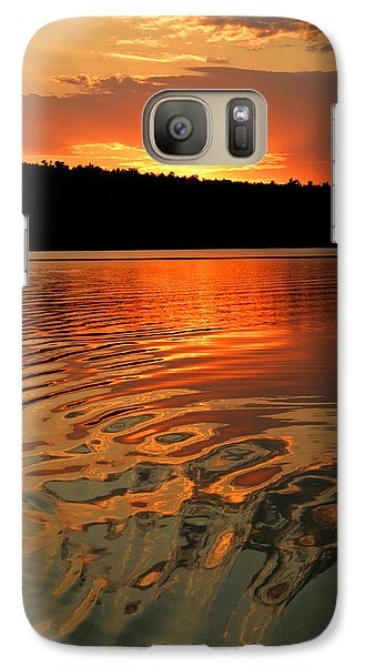 Galaxy Case featuring the photograph Sunset At The Lake by Barbara West