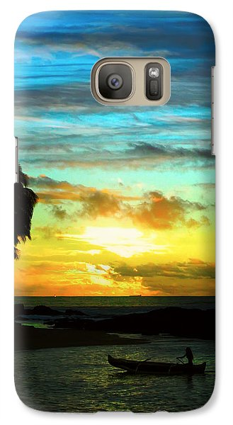 Galaxy Case featuring the photograph Sunset At The Luau by Kara  Stewart