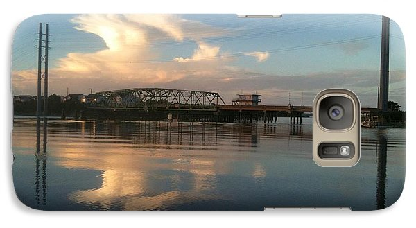 Galaxy Case featuring the photograph Sunset At Topsail Island Bridge by Shelia Kempf