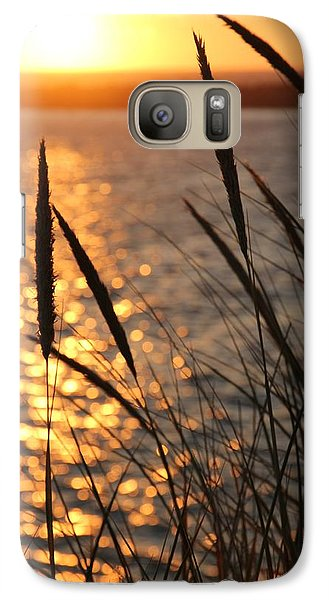 Galaxy Case featuring the photograph Sunset Beach by Athena Mckinzie