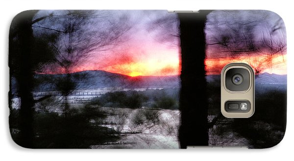 Galaxy Case featuring the photograph Sunset Atop Windy Emerald Park by Jason Politte