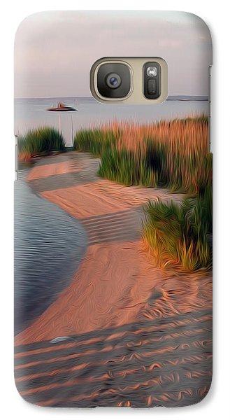Galaxy Case featuring the digital art Sunset Beach by Kelvin Booker
