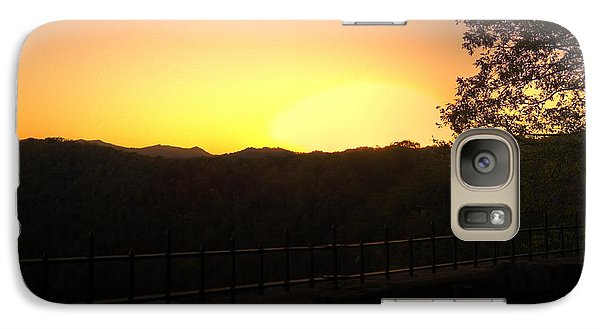 Galaxy S7 Case featuring the photograph Sunset Behind Hills by Jonny D