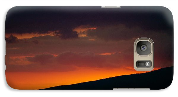 Galaxy Case featuring the photograph Sunset Beyond The Waianae Mountain Range by Lehua Pekelo-Stearns
