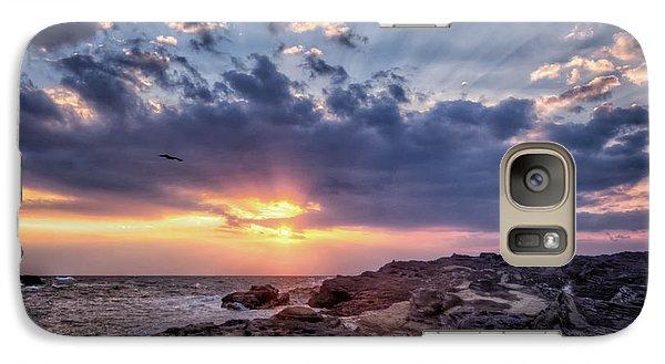 Galaxy Case featuring the photograph Sunset Bird by John Swartz