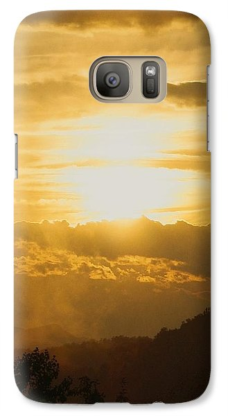 Galaxy Case featuring the photograph Sunset - Blue Ridge Mountains by Photographic Arts And Design Studio