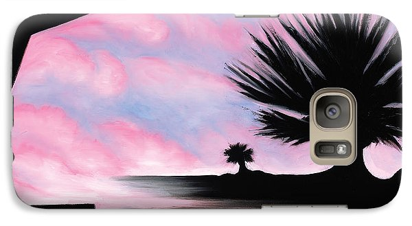 Galaxy Case featuring the painting Sunset Boulevard Dreams by Tiffany Davis-Rustam