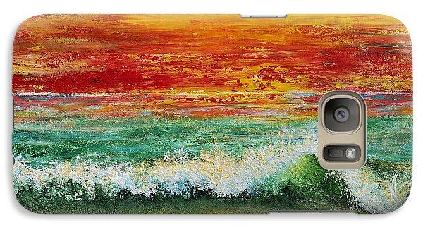 Galaxy Case featuring the painting Sunset Breeze by Teresa Wegrzyn