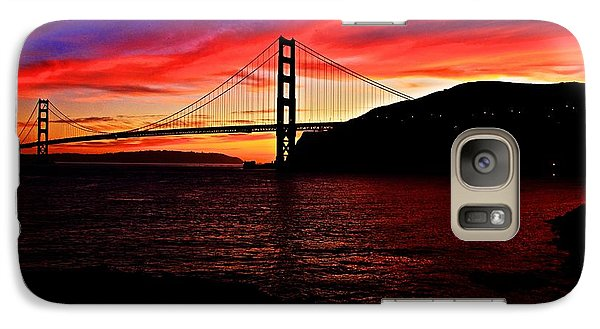Galaxy Case featuring the photograph Sunset By The Bay by Dave Files