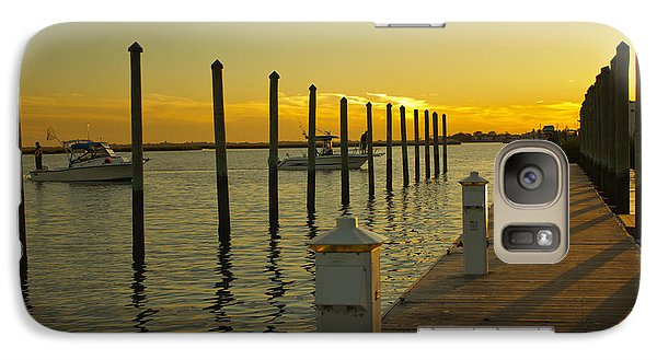 Galaxy Case featuring the photograph Sunset By The Marina One by Jose Oquendo