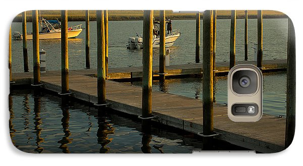 Galaxy Case featuring the photograph Sunset By The Marina Two by Jose Oquendo