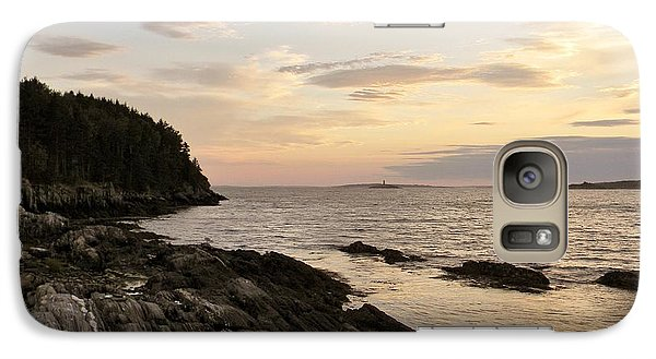 Galaxy Case featuring the photograph Sunset By The Sea by Jean Goodwin Brooks