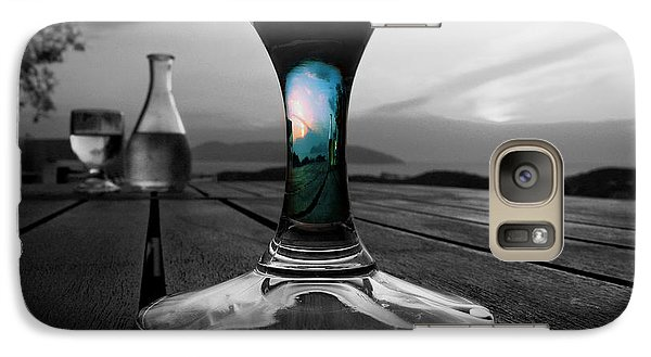 Galaxy Case featuring the photograph Sunset Cafe by Micki Findlay