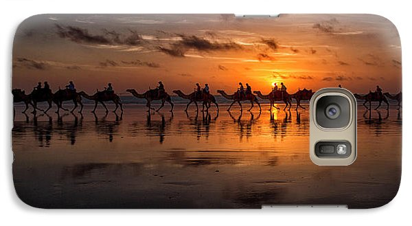 Camel Galaxy S7 Case - Sunset Camel Safari by Louise Wolbers