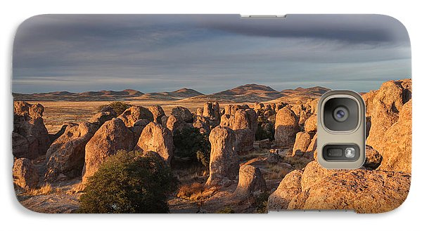 Galaxy Case featuring the photograph Sunset City Of Rocks by Martin Konopacki